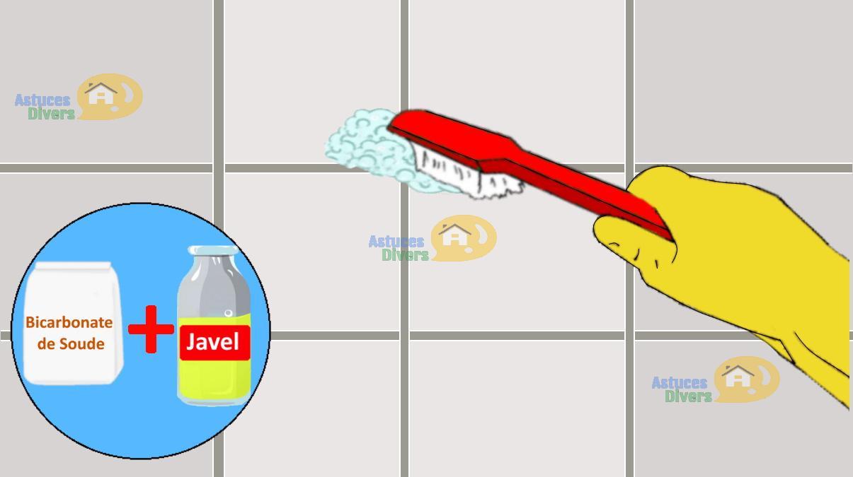 Nettoyer les joints de carrelage et de faïences avec le Bicarbonate et l'eau de Javel : 5 étapes