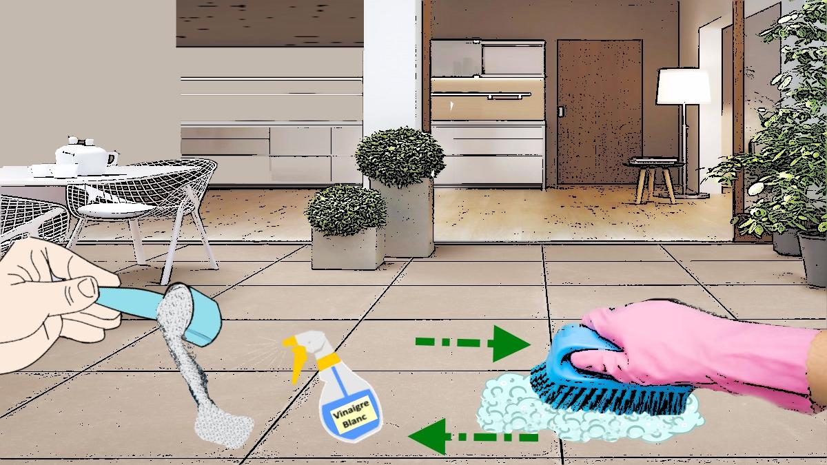 Nettoyer Joint De Carrelage nettoyer avec le vinaigre blanc: 4 astuces pour économiser