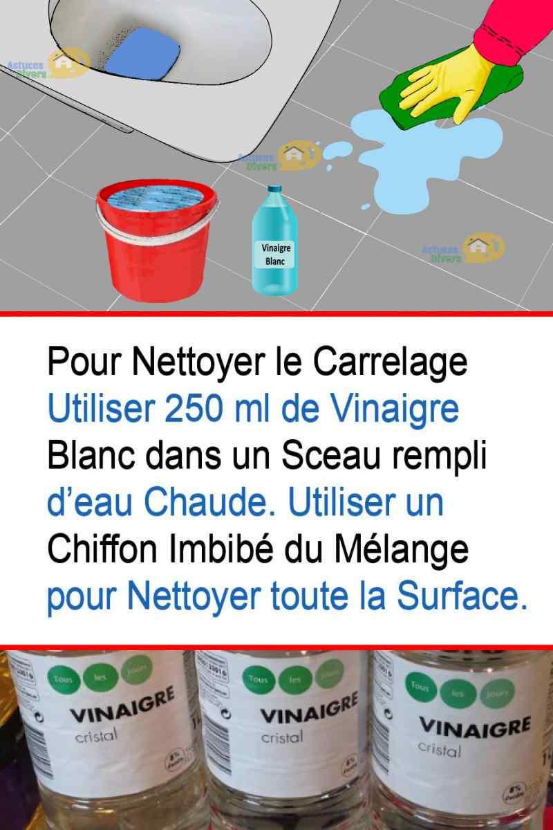 Comment Decrasser Joint De Carrelage nettoyer avec le vinaigre blanc: 4 astuces pour économiser